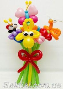 Цветы и Букеты из воздушных шаров в Киеве. Большой букет из воздушных шариков растопит даже самую холодную девушку на свете!