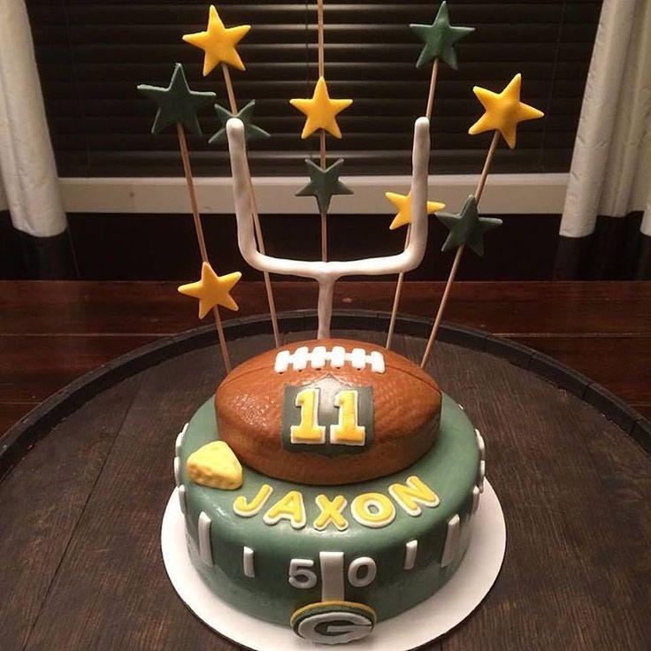 Green Bay Packers Football Birthday Cake from Captain Killjoy Cakery in Lethbridge, AB.