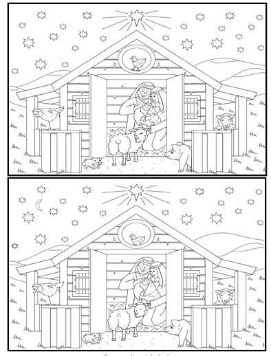 look for the differences in the nativity scene. Other good things also on this page.