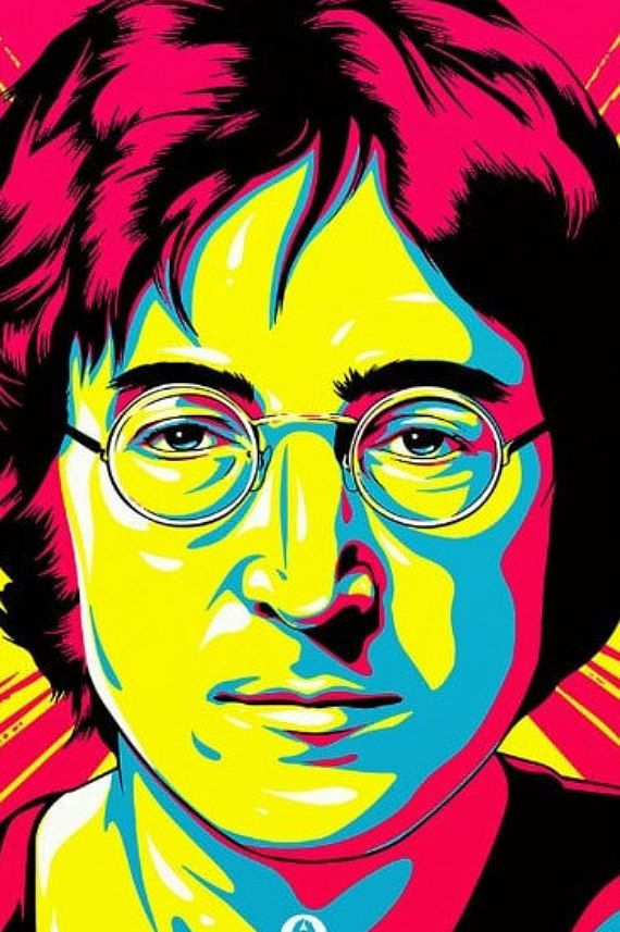 the Beatles John Lennon Music Rock Pop Retro Vintage POSTER wall art