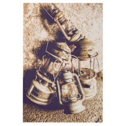 #Posters #Metal #Art - #Closeup Of Antique Oil Lamps Metal Photo Print