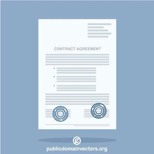 Contract agreement vector image