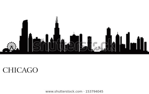 Find Chicago City Skyline Silhouette Background Vector Stock Images In Hd And Millions Of City Skyline Silhouette Chicago Skyline Silhouette Skyline Silhouette