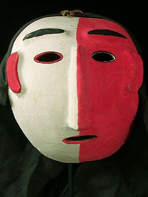 Rare Korean mask made of gourd