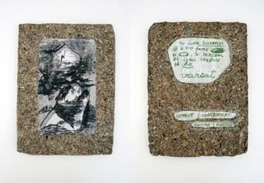 "Saatchi Art Artist Maia S Oprea; Collage, ""LINE TABLET #3"" #art"