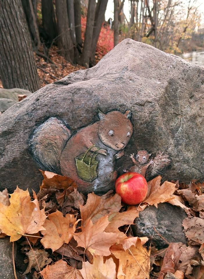 David Zinn at the Dexter Cider Mill                                                                                                                                                                                 More