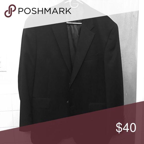 IZod men's sports jacket Black  wool size 43R Izod Suits & Blazers Sport Coats & Blazers