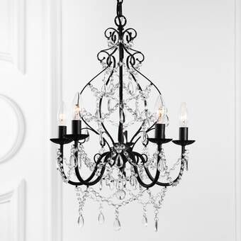 Bouchette Traditional 6-Light Candle Style Chandelier