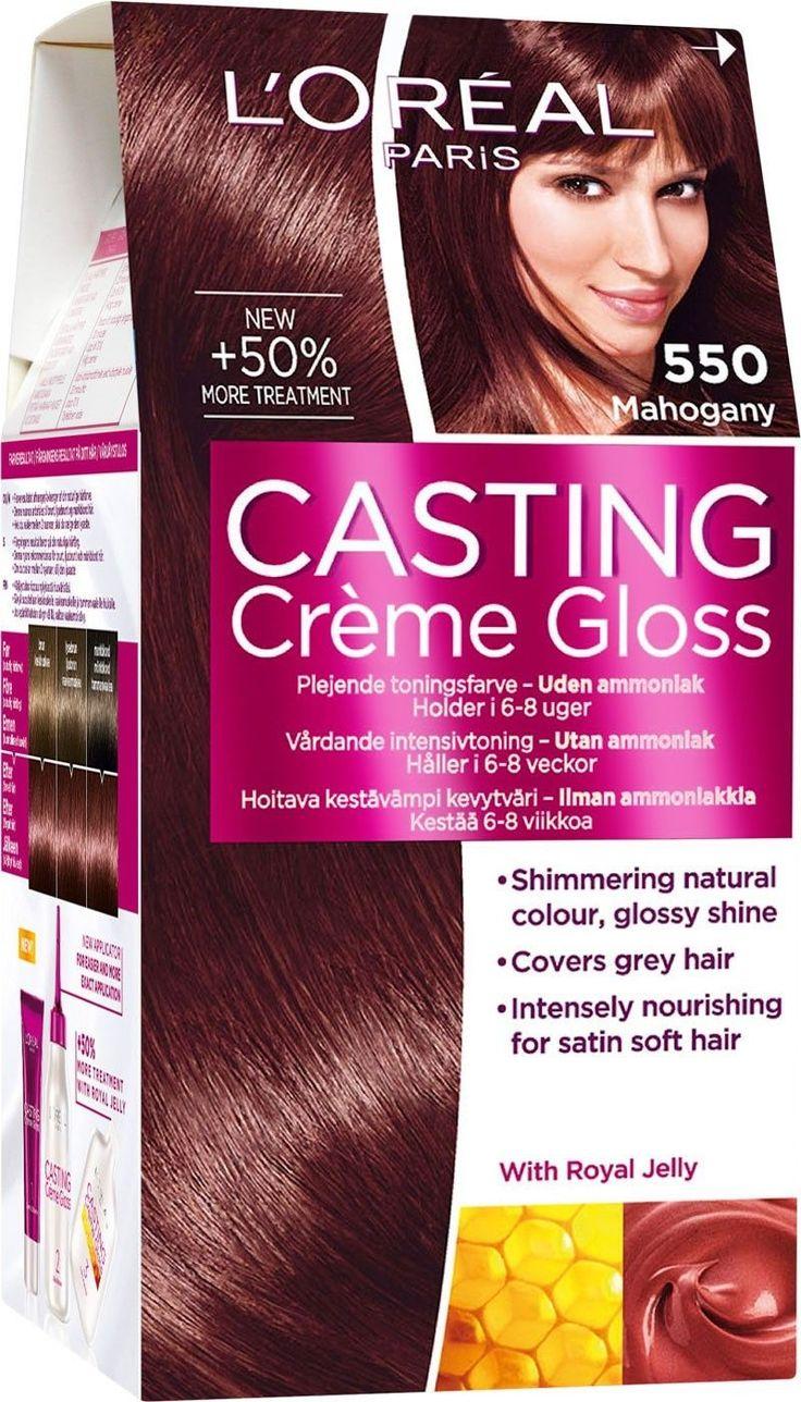 L Oreal Casting Crcme Gloss 550 Mahogany Permanent Hair Dye No Ammonia Loreal Loreal Casting Creme Gloss Loreal Paris