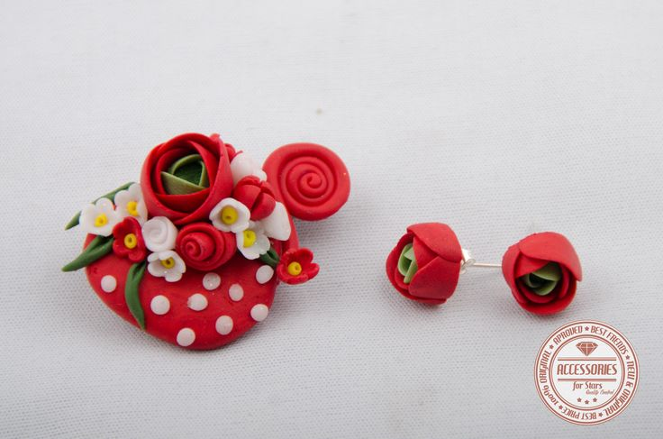 http://accessoriesforstars.blogspot.ro/2015/01/set-red-cup-of-tea.html #cupoftea #cup #tea #red #flowers #ranunculus #brooches #earrings #sets #accessoriesforstars #vintage #doods #little #vintagered #sweet #gradient