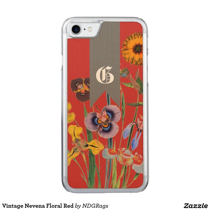 Vintage Nevena Floral Red Carved iPhone 7 Case
