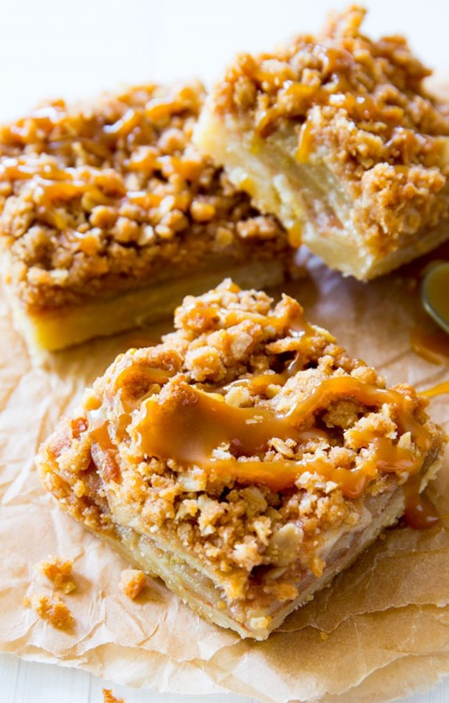 Whip up Salted Caramel Apple Pie Bars with this recipe.