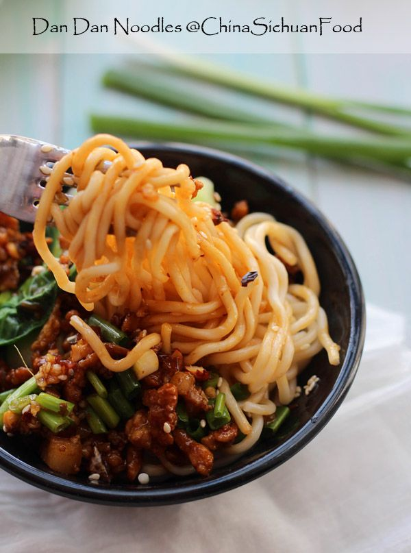 Dandan noodles: Dan Dan Noodles is a famous Spicy Chinese noodle dish from sichuan Cuisine.