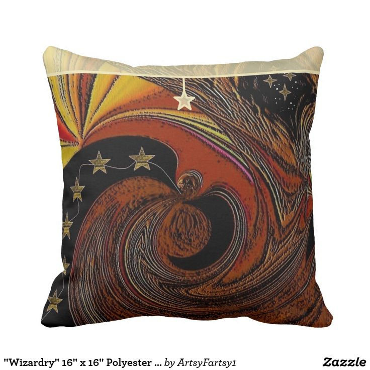 """Wizardry"" 16"" x 16"" Polyester Throw Pillow"