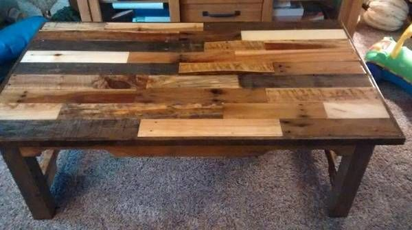 Pallet Coffee Table Tops – To Match or Not to Match