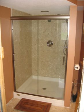 Semi Frameless Bypass Shower Door With Standard Edge