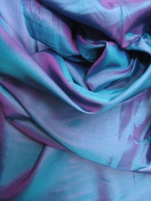 Fabrics can just be so beautiful, like this iridescent silk taffeta. Another reason to use them!