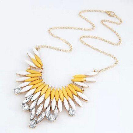 De metal de moda joya de plumas vistosas collar personalizado collares Del Collar de Gargantilla Collares Declaración de joyería de las mujeres calientes Para Mujer
