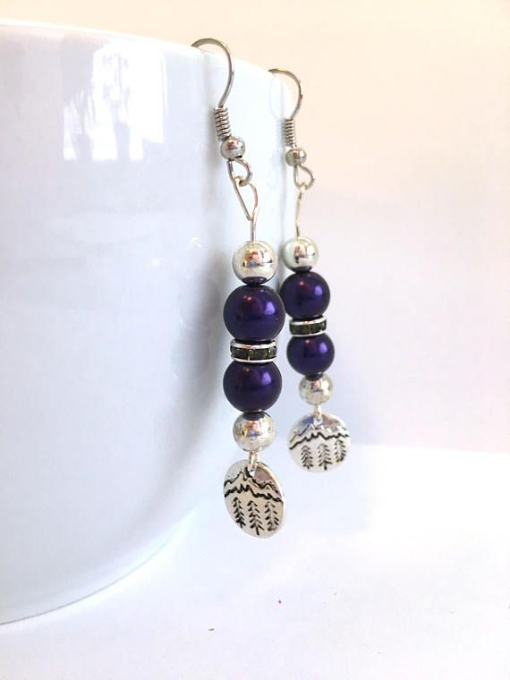 Colorado ROCKIES Baseball Fans Handcrafted Beaded Earrings