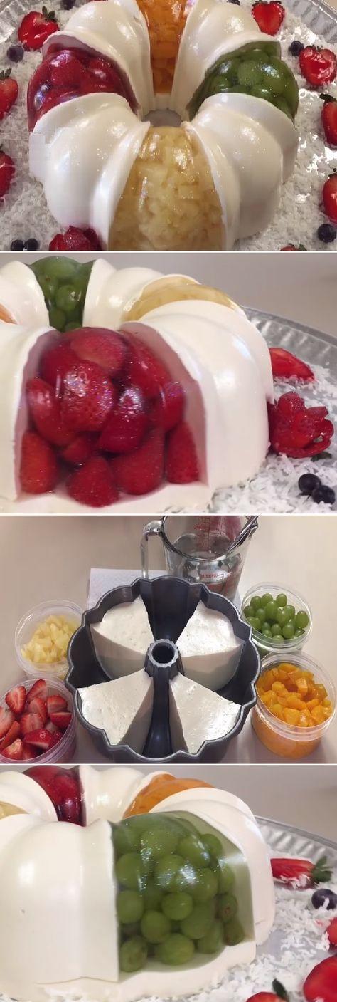 """Gelatina Con Frutas Encapsuladas y Yogurt Natural """" By Creaciones Prin. #gelato #gelatina #receta #recipe #nestlecocina Les comparto una gelatina que a la mayoria le encanta pero no sabe como se hace … """" Si te gusta dinos HOLA y dale a Me Gusta MIREN …"""