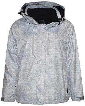 Pulse Women's Plus Extended Size 3in1 Boundary Snow Ski Jacket Coat (3X (24), White/Grey)