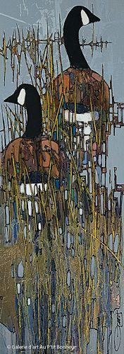 Jean-Pierre Guay, 'Dans l'eau', 15'' x 42'' | Galerie d'art - Au P'tit Bonheur - Art Gallery