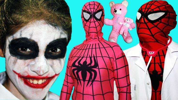 Spiderman Pink Spidergirl Pregnant w/ Frozen Elsa Spiderbaby Superheroes...