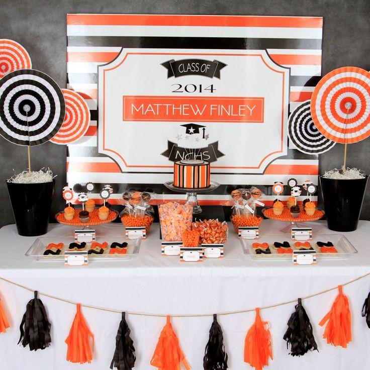 table decoration graduation party ideas