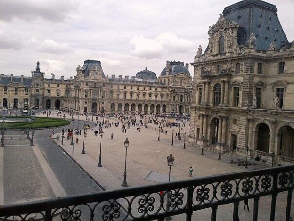 Looking out from inside Musee du Louvre, it was just as visually beautiful as its collection of art pieces inside.