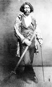 """James Beckwourth, Pioneer/fur trader born  April 6, 1798   Born in Fredricksburg, VA to white master and Black slave mother. Moved to St. Louis as a teen and became a scout with the Rocky Mount Fur Co. In 1824 he was adopted the Crow Indian Nation and married a Crow woman. He was given two Indian names """"Bloody Arm"""" and """"Bulls Robe"""" and fought many wars with them. He later moved West and discovered Beckwourth Pass in the Sierra Nevada Mountain Range."""