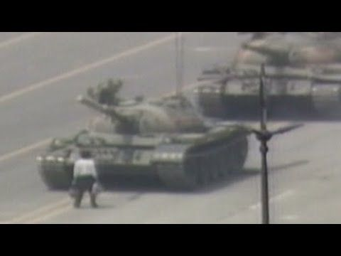 1989 Raw Video Man Vs Chinese Tank Tiananmen Square Youtube