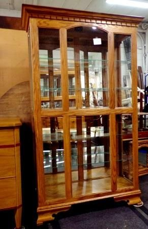 Oak Display Cabinet photo