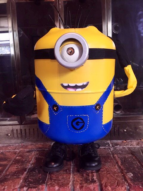 How Much Is Freon >> Minion I made from a freon tank. | I MADE THIS! | Pinterest | Welding projects, Metalworking and ...
