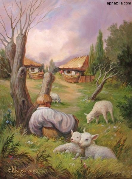 optical-illusions Face Of A Man or Boy With Sheep?