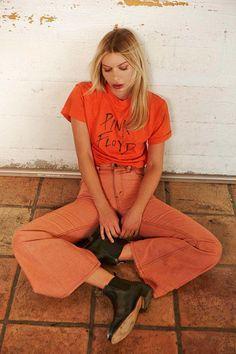 Style Inspiration   50 shades of orange