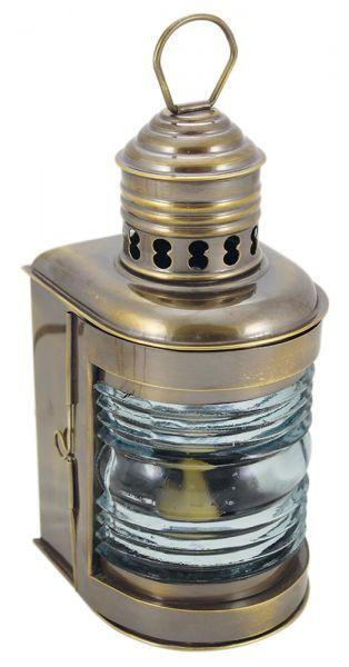 Mastlampe Messing antik, Petroleumbrenner, H: 23cm