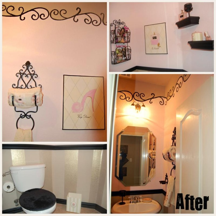 Itu0026 Easier Than You Think To Learn How To Create This Paris Themed Powder  Room Or Bathroom.
