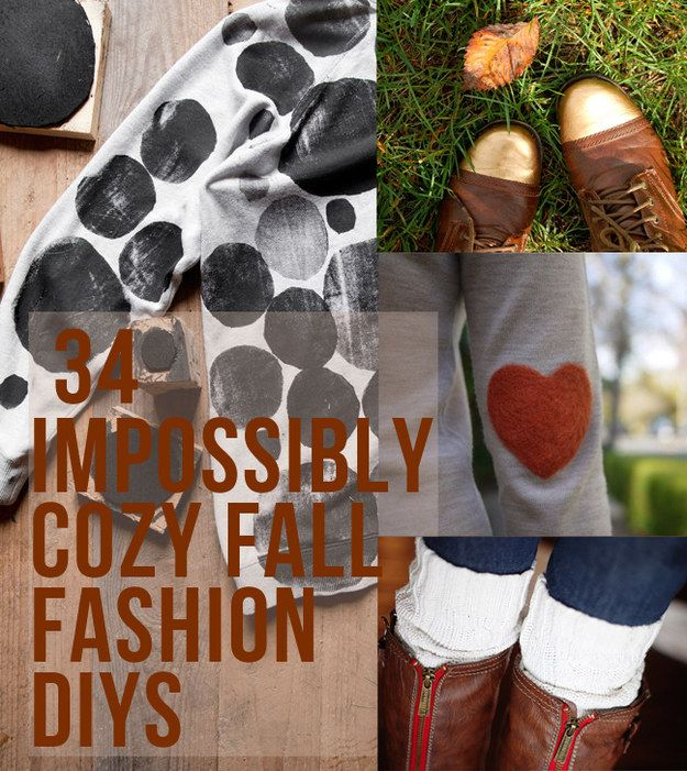34 Fall Fashion DIYs That Are Incredibly Easy  my tie dyed tights got on this list somehow. They're great for halloween, but who wears that out like for work, anyway, worth reading for the other stuff .