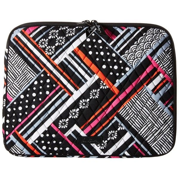 Vera Bradley Laptop Sleeve (Northern Stripes) Computer Bags ($38) ❤ liked on Polyvore featuring accessories, tech accessories, vera bradley, laptop cases, padded laptop case, laptop sleeve cases and vera bradley laptop case