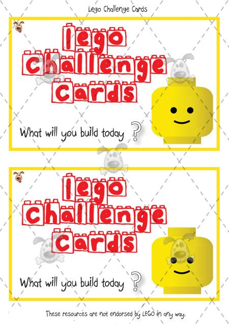 Teacher's Pet Activities & Games » Lego Challenge Cards » EYFS, KS1, KS2 classroom activity and game resources » A Sparklebox alternative