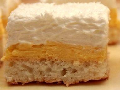 TĚSTO: 5 bílků, 5 lžic krupicového cukru, 100 g polohrubé mouky, 120 g strouhaného kokosu, 1 lžička prášku do ...