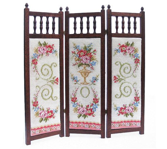 Miniature 3 panel dressing screen KIT Juliette by nicolamascall, $83.00
