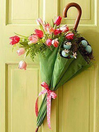 Una original forma de presentar una ramo de flores. Idea de Original House #Regalo #Flores #Decoración