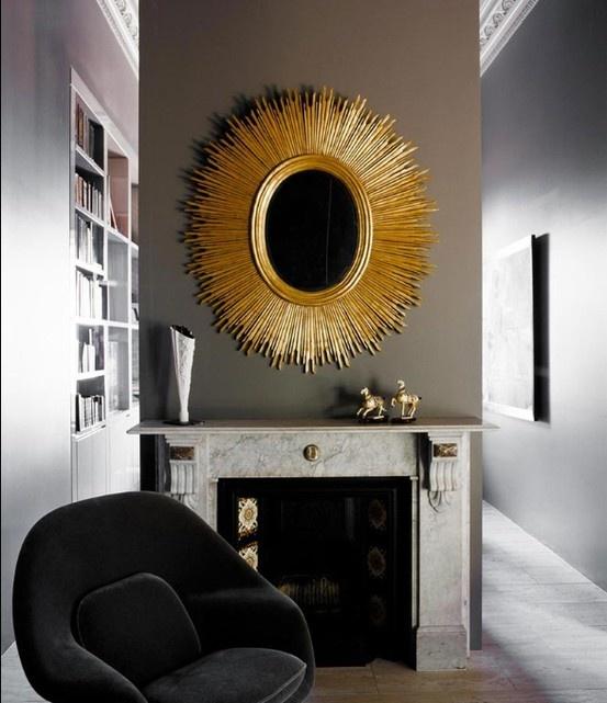 Gold & Gray: gold & gray interiors
