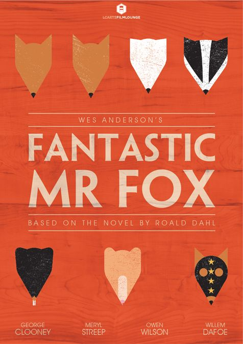 Minimal Movie Posters: Fantastic Mr Fox by LCArts Film Lounge  Kids' room