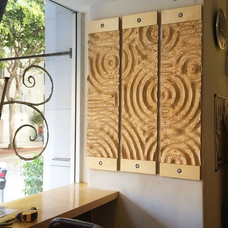 Machined Art Onto Plywood Designed By Mike Anderson