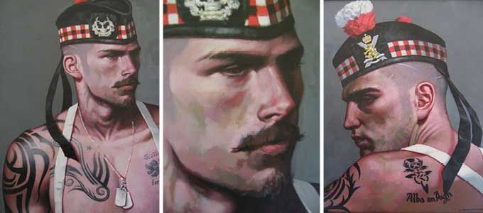 Scottish Warrior series of paintings by Craig Campbell