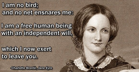 This week in history we mark the date on which famous author Charlotte Bronte refused a marriage of convenience with a list of her most independent-minded words.
