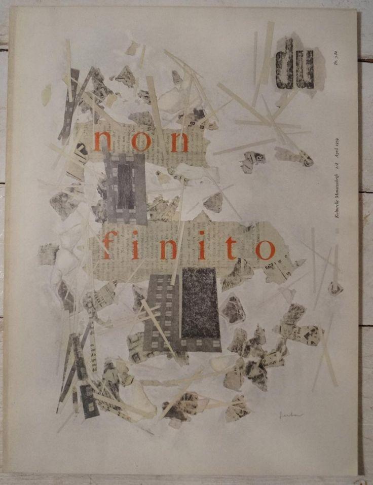 Du - Kulturelle Monatsschrift April 1959: non-finito