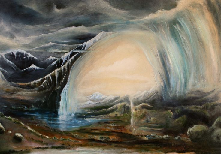 """""""Reclusive Impulse"""" by Daniel Rigos. Abstract Surreal Landscape Oil Painting for Sale on Bluethumb - Online Art Gallery, Australia. 86cm (W) x 61cm (H) - $850 AUD"""
